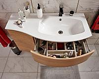 Plan vasque résine Cooke & Lewis Vague version droite 104 cm