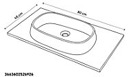 Plan vasque résine GoodHome Ceara 80cm