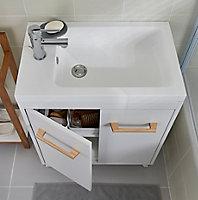 Plan vasque résine GoodHome Makonda 60cm