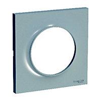 Plaque 1 poste Schneider electric Odace Aluminium