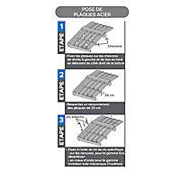 Plaque acier Alizé ardoise 5008, 550 x 85 cm (vendue à la plaque)