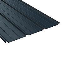 Plaque acier Alizé ardoise 5008, 600 x 85 cm (vendue à la plaque)