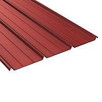 Plaque acier Alizé rouge 8012, 500 x 85 cm (vendue à la plaque)