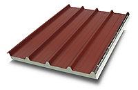 Plaque acier sandwich rouge 8012, 300 x 100 cm (vendue à la plaque)
