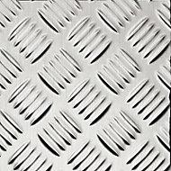 Plaque adhésive aluminium damier 100 x 65 cm