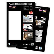 Plaque adhésive PVC laqué blanc 100 x 65 cm