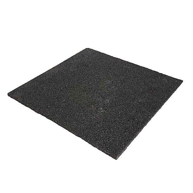 plaque anti vibration en caoutchouc noir diall