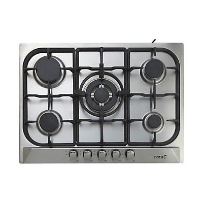 plaque de cuisson gaz inox cooke lewis clgh1ss c