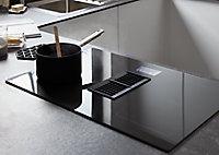 Plaque de cuisson à induction avec hotte intégrée GoodHome GHIHEF77, Zone flexible