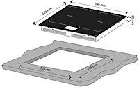 Plaque de cuisson à induction connectée GoodHome GHIHAC60, Zone flexible