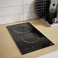 Plaque de cuisson vitrocéramique Cooke & Lewis CLCER30, 2 foyers