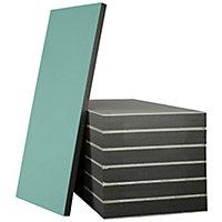 Plaque de doublage hydrofuge Pladur 250 x 120 cm, ép.13 mm + 80 mm (vendue à la plaque) zone « Sud »