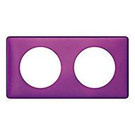 Plaque de finition double Legrand Céliane Métal Violet Irisé