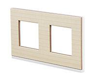 Plaque de finition SCHNEIDER ELECTRIC Unica bois noir nordique 2 postes