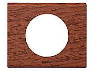 Plaque de finition simple Legrand Céliane acajou