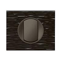 Plaque de finition simple Legrand Céliane matière corian gougé