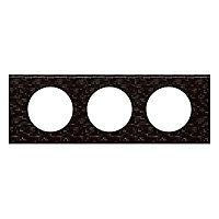 Plaque de finition triple Legrand Céliane matière cuir pixels