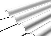 Plaque fibro ciment grise - 200 x 92 cm (vendue à la plaque)