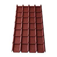 Plaque métal Easy-tuile Linéa 113 x 86 cm rouge (vendue à la plaque)