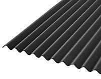 Plaque ondulée bitumée noir 200 x 93 cm (vendue à la plaque)