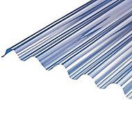 Plaque polyester Eco petites ondes translucide - 200 x 92 cm (vendue à la plaque)