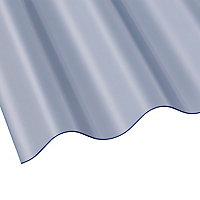 Plaque polyester Eco petites ondes translucide - 300 x 92 cm (vendue à la plaque)