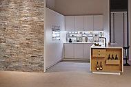 Plaquette de parement interieur UltraWood White Wash 0,09m² bois blanc (vendu à la pièce)