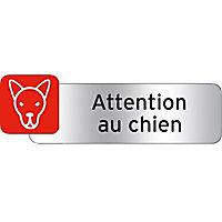 """Plaquette indicatrice """"Attention au chien"""""""