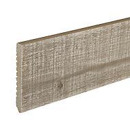 Plinthe brut de sciage bois flotté gris 205 x 68 cm