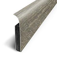 Plinthe sol souple PVC Décor Chêne moka 7 x 120 cm