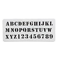 Pochoir imprimerie Colours Alphabet