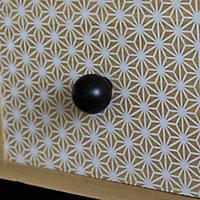 Poignée bouton boule 27mm plastique noir mat