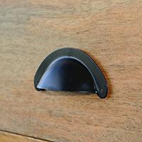 Poignée coquille entraxe 85 mm acier noir