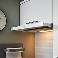 Poignée de meuble de cuisine GoodHome Annatto Argent L. 22 cm, 2 pièces