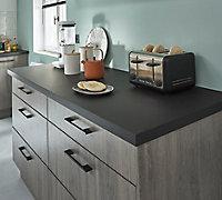 Poignée de meuble de cuisine GoodHome Cacao Noir L. 22 cm, 2 pièces