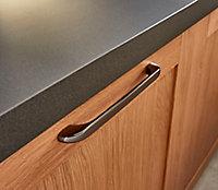 Poignée de meuble de cuisine GoodHome Condio Argent L. 22.5 cm, 2 pièces