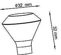 Poignée de meuble de cuisine GoodHome Noix de muscade Argent L. 3.2 cm, 2 pièces
