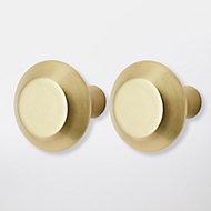 Poignée de meuble de cuisine GoodHome Noix de muscade Or L. 3.2 cm, 2 pièces