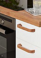 Poignée de meuble de cuisine GoodHome Ruta Naturel L. 17.8 cm, 2 pièces