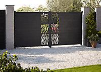 Portail alu Neva anthracite - 300 x h.170 cm