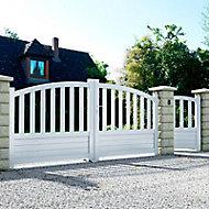Portail aluminium BLOOMA Loja blanc - 350 x h.140 cm