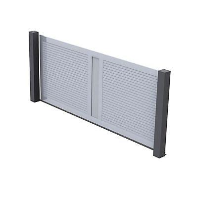 portail coulissant pvc ciotat blanc 350 x h 150 cm