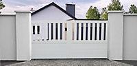 Portail coulissant pvc Naussac blanc - 350 x h.150 cm