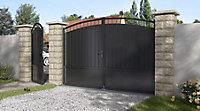 Portail fer Blooma Oria noir - 300 x h.200 cm