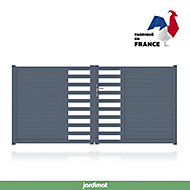 Portail Jardimat aluminium Courtrai gris 7016 - 350 x h.146 cm