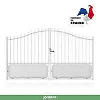 Portail Jardimat aluminium Ferney blanc 9016 - 350 x h.153/183 cm