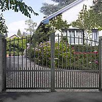 Portail Jardimat aluminium Landas gris 7016 - 300 x h.160 cm