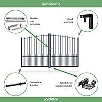 Portail Jardimat aluminium Landas gris 7016 - 350 x h.160/180 cm