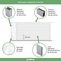 Portail Jardimat coulissant aluminium Fréjus blanc 9016 - 400 x h.170 cm