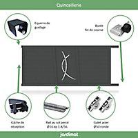 Portail Jardimat coulissant aluminium Lausanne noir 2100 - 350 x h.160 cm